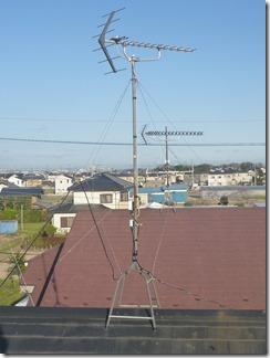 加須市上高柳O様 アンテナ工事完了。