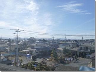 熊谷市東別府K様 児玉局方向の景色1。