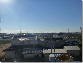 白岡市上野田T様 東京スカイツリー方向の景色。