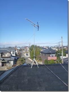上尾市井戸木A様 アンテナ工事完了。