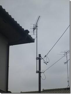 鴻巣市生出塚I様 アンテナ工事完了(UHF)。