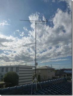 加須市南町A様 アンテナ工事完了。