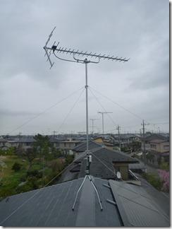鴻巣市生出塚T様 アンテナ工事完了。