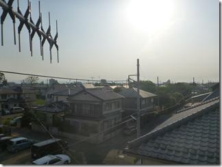 熊谷市玉井T様 児玉局方向の景色。