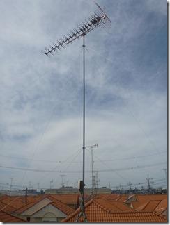 鴻巣市上生出塚S様 アンテナ工事完了。