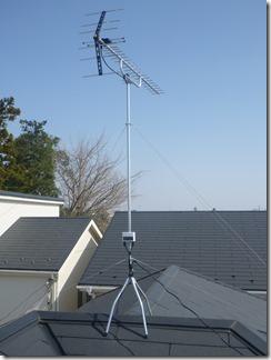 鴻巣市登戸S様 アンテナ工事完了。