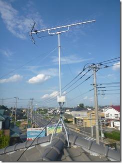 鴻巣市鴻巣H様 アンテナ工事完了。