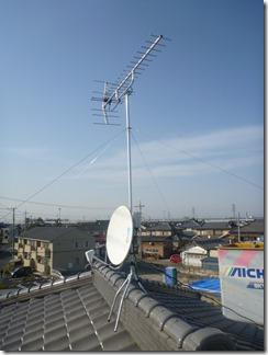 熊谷市肥塚K様 アンテナ工事完了。