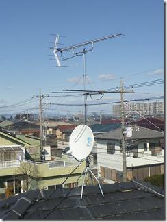 北本市西高尾S様 アンテナ工事完了。