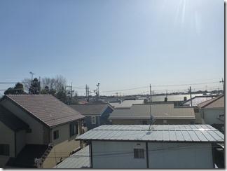北本市西高尾S様 東京スカイツリー方向の景色(完了)。