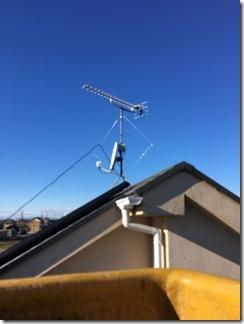 鴻巣市境S様 アンテナ工事完了。