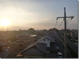 行田市城西U様 前橋局方向の景色。