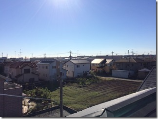 鴻巣市新宿M様 東京スカイツリー方向の景色(完了)。