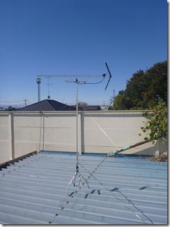 羽生市弥勒S様 アンテナ工事完了。