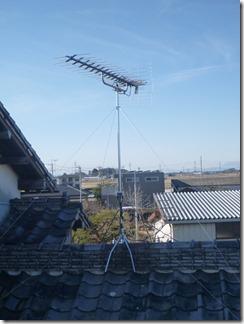 鴻巣市北根U様 アンテナ工事完了。