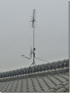熊谷市東別府K様 アンテナ工事完了。