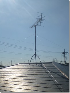 鴻巣市ひばり野F様 アンテナ工事完了。