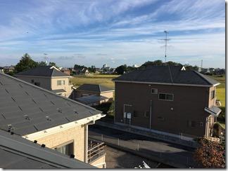 羽生市桑崎A様 東京スカイツリー方向の景色。