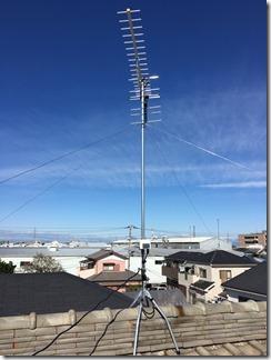 鴻巣市神明A様 アンテナ工事完了。