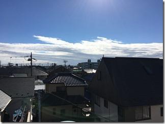 鴻巣市神明A様 東京スカイツリー方向の景色(完了)。