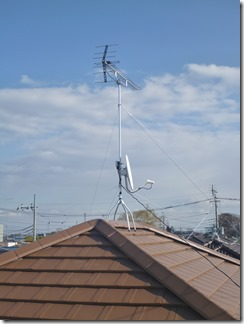 北本市中丸N様 アンテナ工事完了。