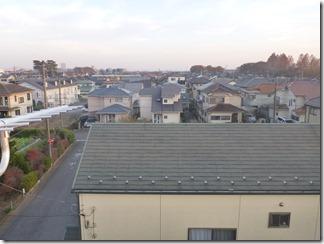 上尾市井戸木A様 東京スカイツリー方向の景色。