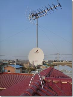 鴻巣市北根A様 アンテナ工事完了。