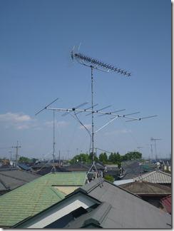 加須市騎西C様 アンテナ工事完了。