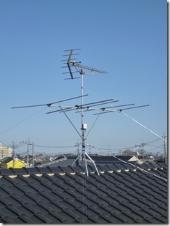 熊谷市佐谷田E様 アンテナ工事完了。