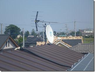 鴻巣市明用H様 アンテナ工事完了。