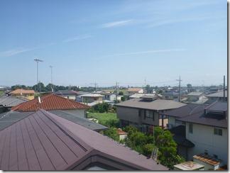 鴻巣市明用H様 東京スカイツリー方向の景色(完了)。