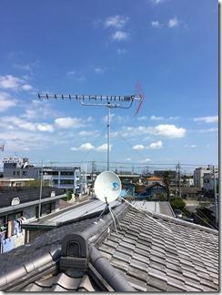 鴻巣市雷電H様 アンテナ工事完了。