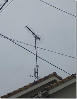 鴻巣市吹上本町H様 アンテナ工事完了。
