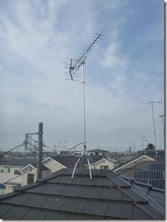 鴻巣市下忍I様 アンテナ工事完了。