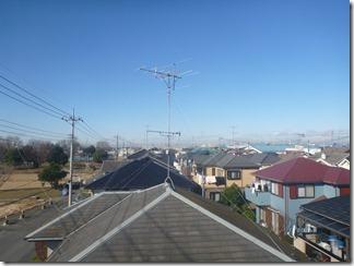 加須市久下I様 前橋局方向の景色(完了)。