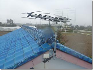 加須市上崎K様 アンテナ工事完了(UHF)。