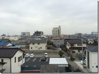 幸手市中K様 東京スカイツリー方向の景色(完了)。