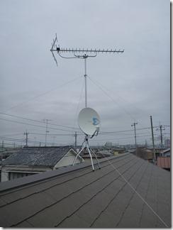 行田市桜町K様 アンテナ工事完了。