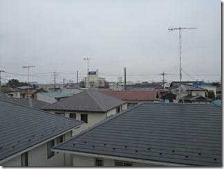 行田市桜町K様 東京スカイツリー方向の景色(完了)。
