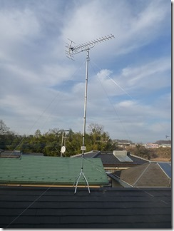 吉見町長谷K様 アンテナ工事完了。