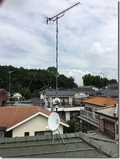 鴻巣市大間M様 アンテナ工事完了。