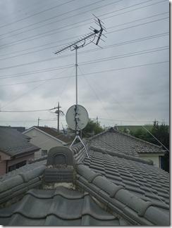 北本市深井M様 アンテナ工事完了。
