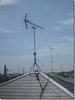 行田市野M様 アンテナ工事完了。