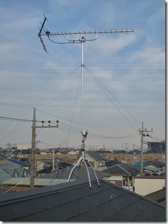 北本市中丸M様 アンテナ工事完了。