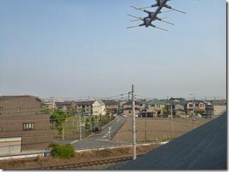 行田市桜町M様 東京スカイツリー方向の景色(完了)。