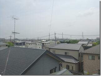 行田市城西M様 東京スカイツリー方向の景色。