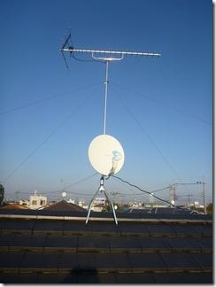 鴻巣市富士見町N様 アンテナ工事完了。