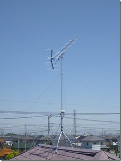 久喜市栗原N様 アンテナ工事完了。