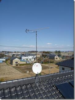 鴻巣市上会下O様 アンテナ工事完了。