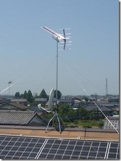 鴻巣市屈巣O様 アンテナ工事完了。